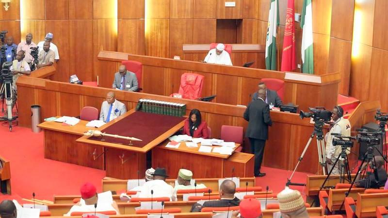 BREAKING: Thugs Storm Nigerian Senate, Steal Mace
