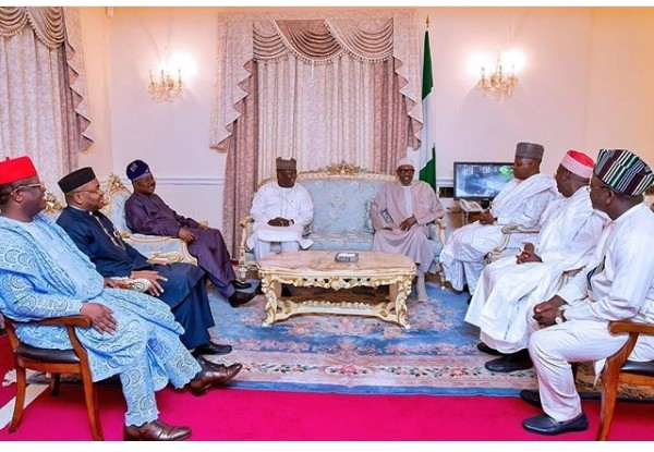 Laughter, smiles as Buhari welcomes seven governors