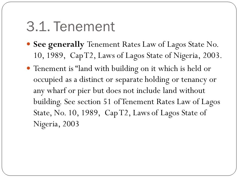 Who Pays Tenement Rates?
