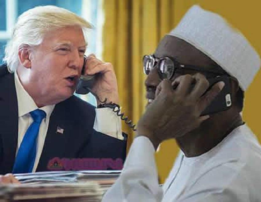 trump speaks to buhari