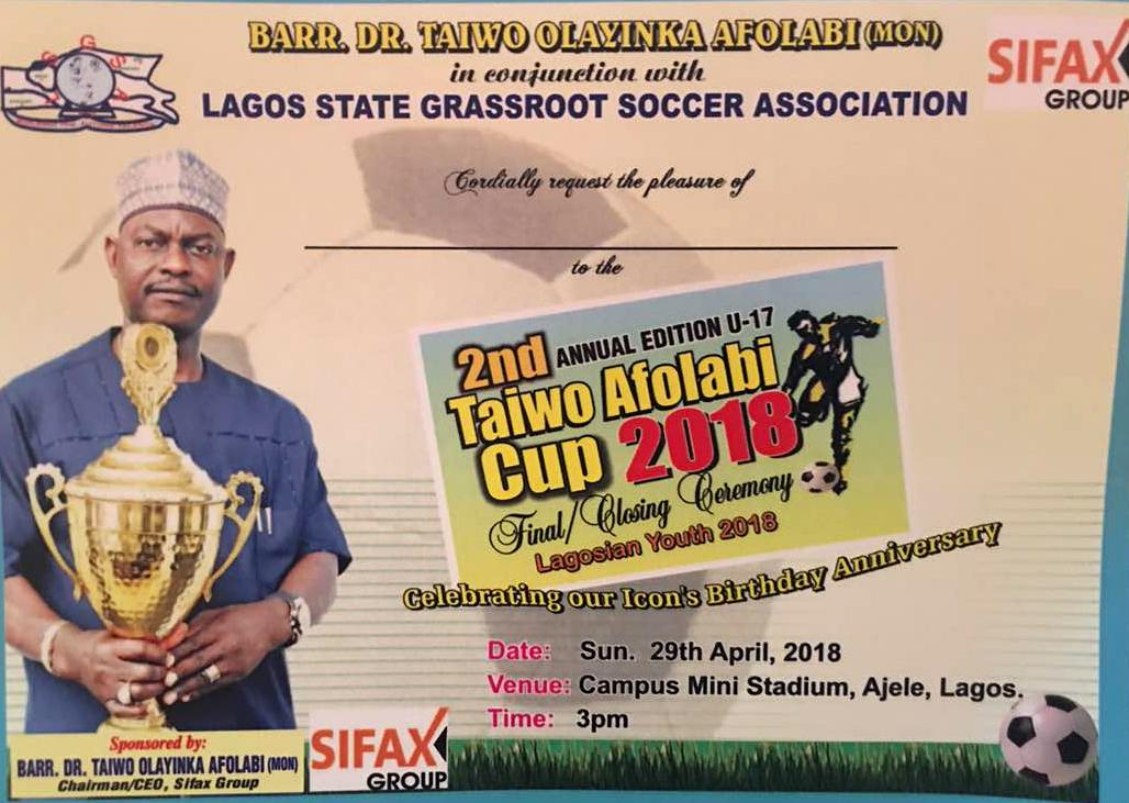 Grassroots Footballers Honour SIFAX Boss Taiwo Afolabi