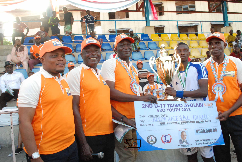 Junior Arsenal-Idimu Wins 2018 Taiwo Afolabi U-17 Football Cup