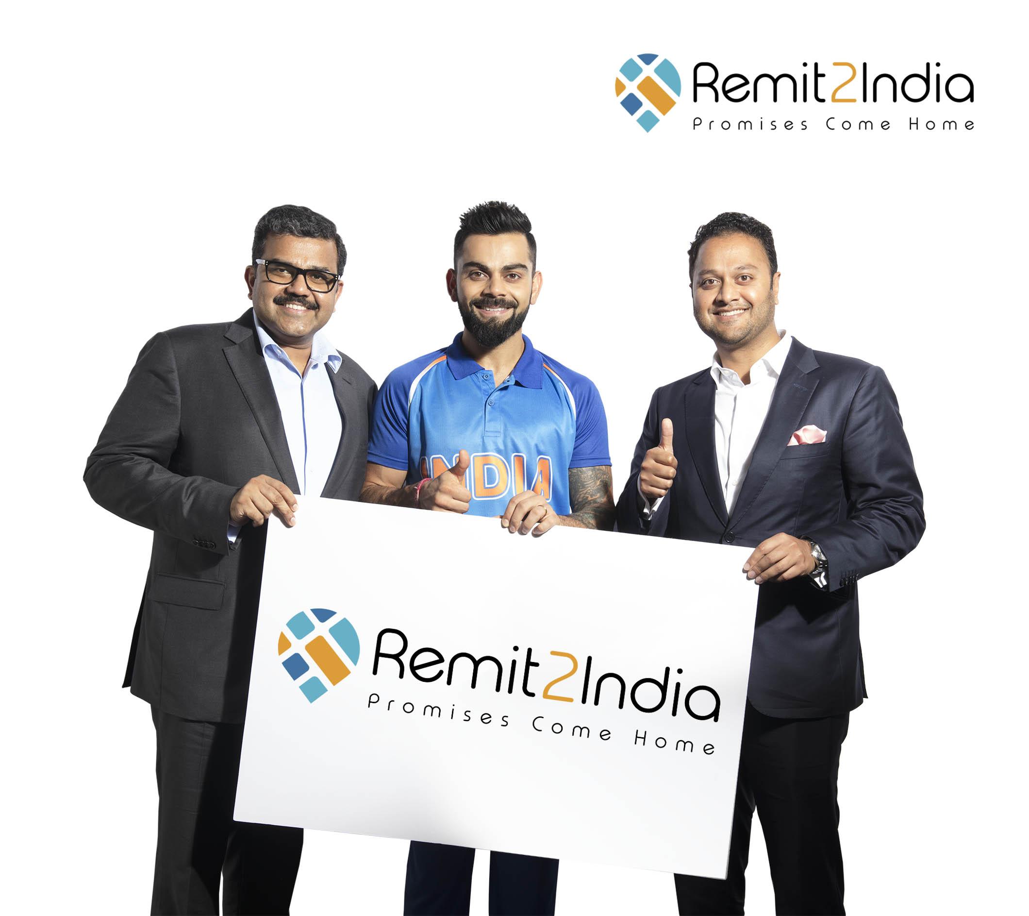 Remit2India Unveils Cricketer Virat Kohli as Brand Ambassador