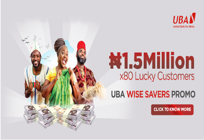 UBA Offers N120m to 80 Customers in Wise Savers Promo
