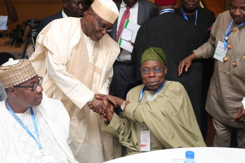 BREAKING: Obasanjo Endorses Atiku for 2019 Presidential Election