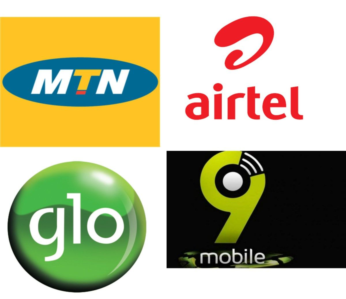 airtel glo MTN 9mobile subscribers
