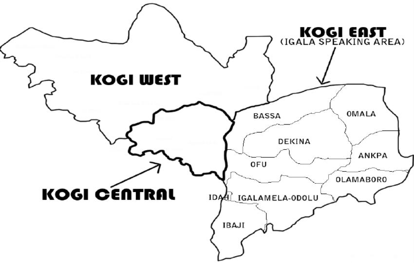 map of kogi state