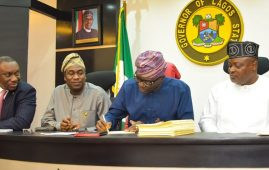 Lagos signs 2020 budget
