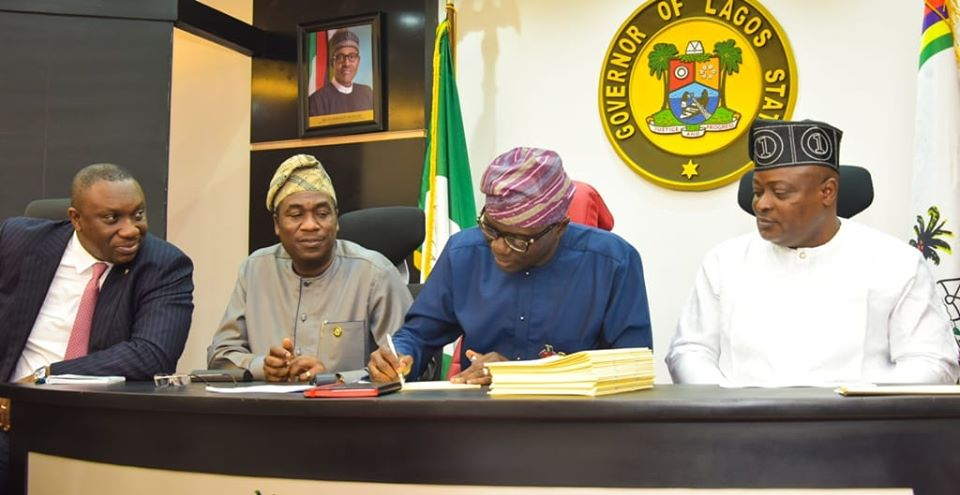 Lagos signs 2020 budget