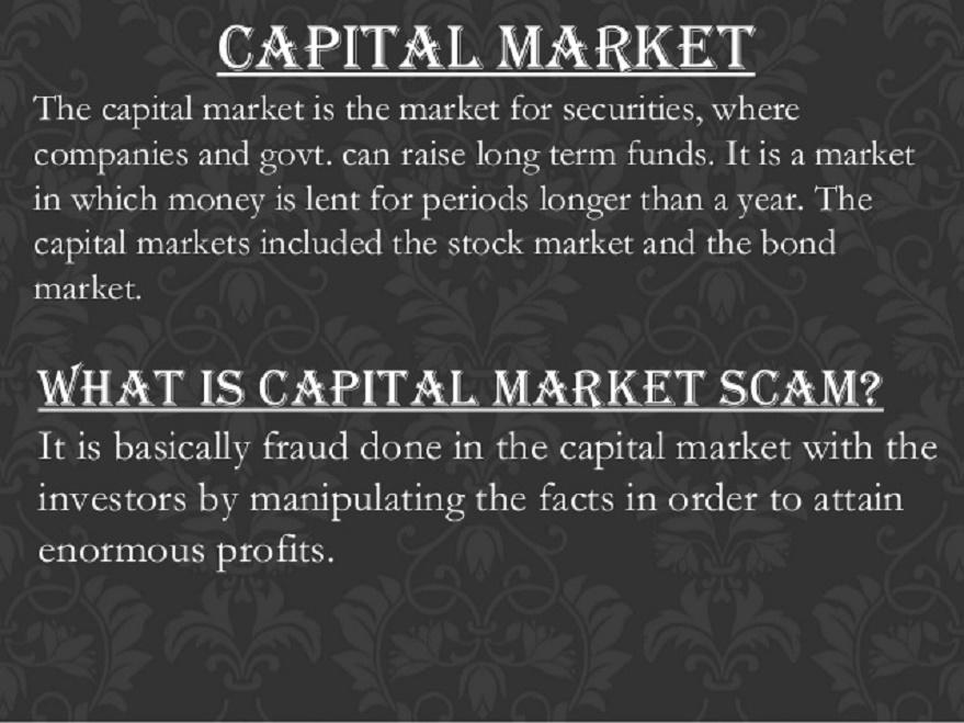 capital market fraud
