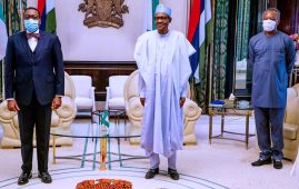 AfDB Adesina with Buhari