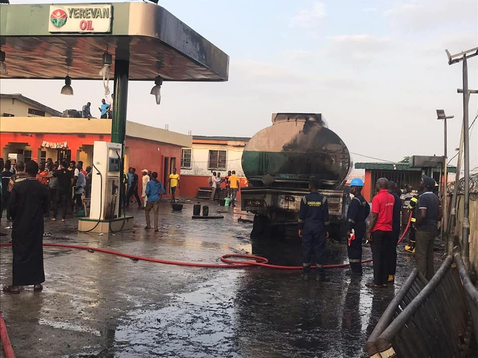 Fire Petrol Station in Ogba