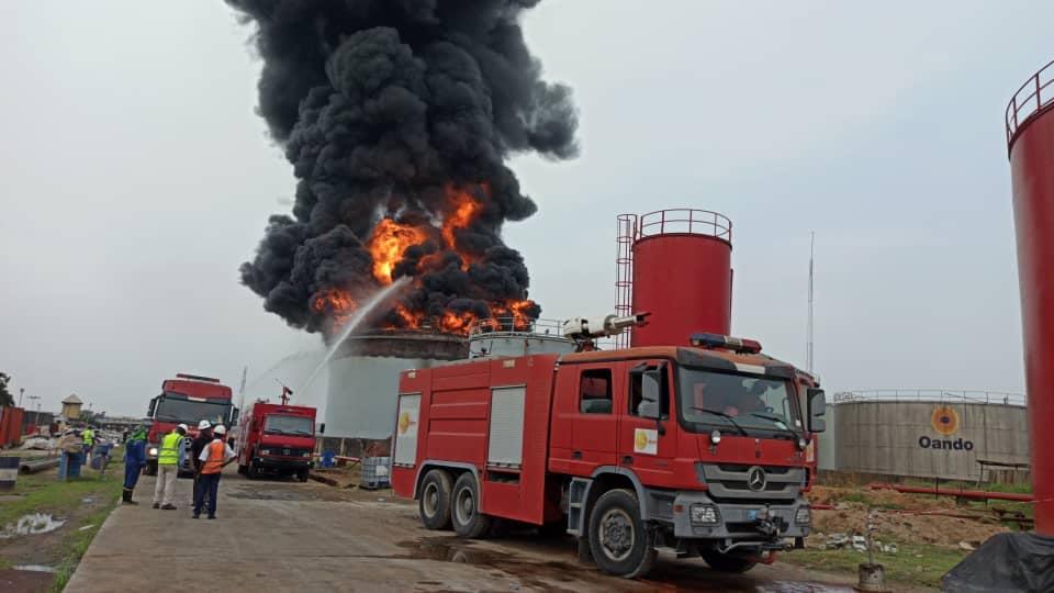 Oando Tank Farm fire