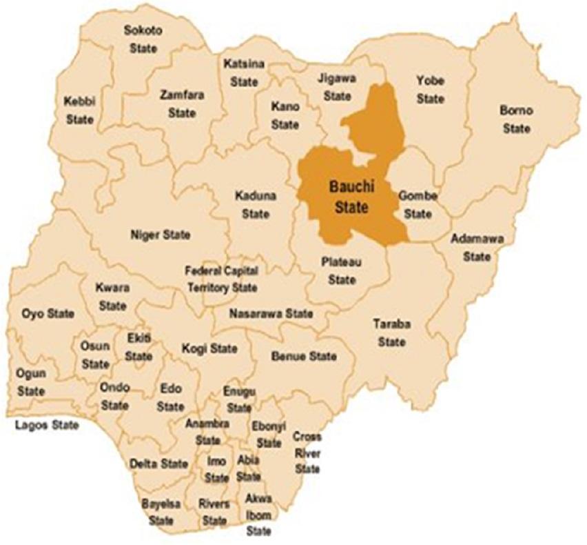 Map of Bauchi