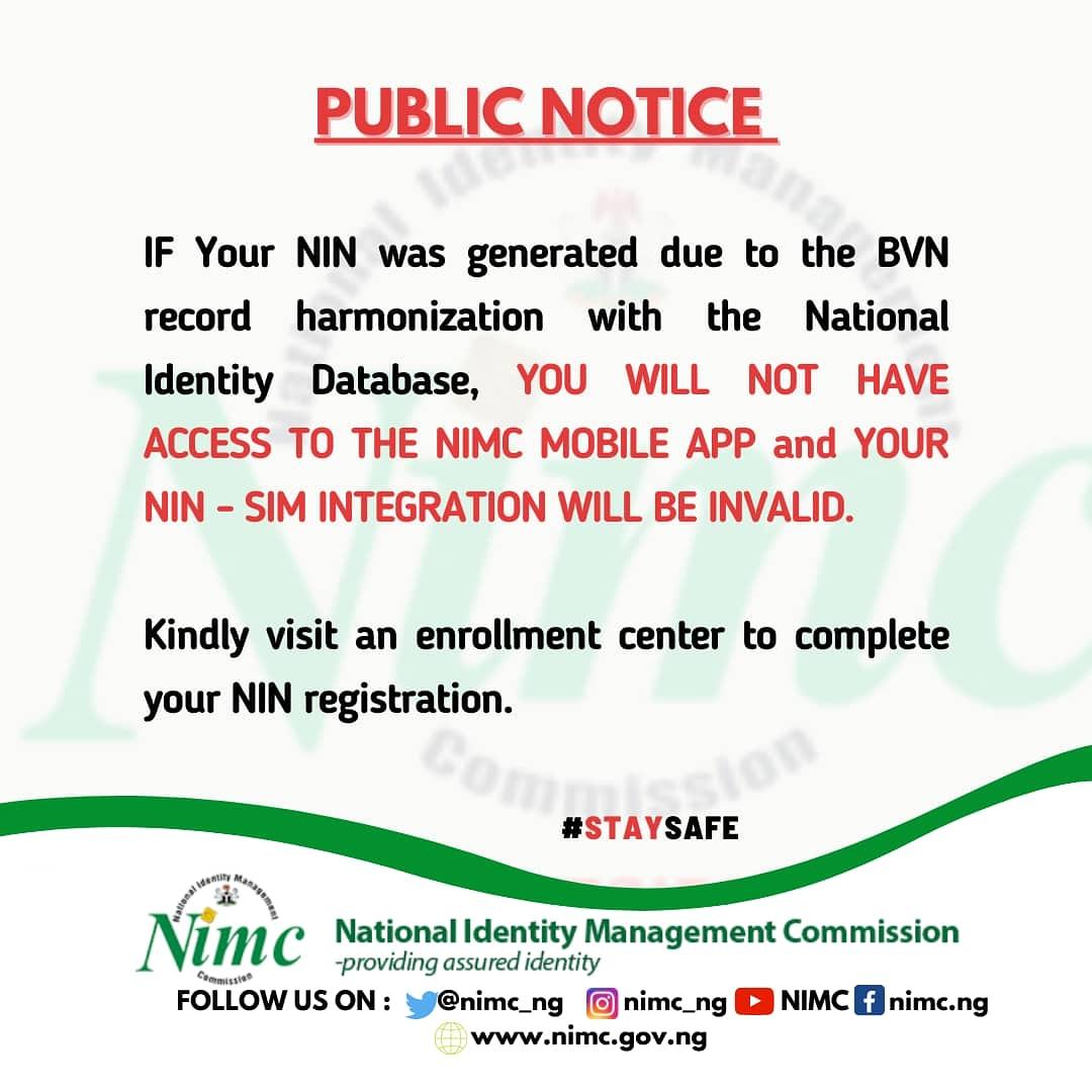 BVN-Generated NIN