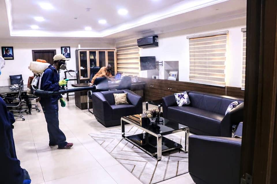 Lagos Decontaminates Secretariat