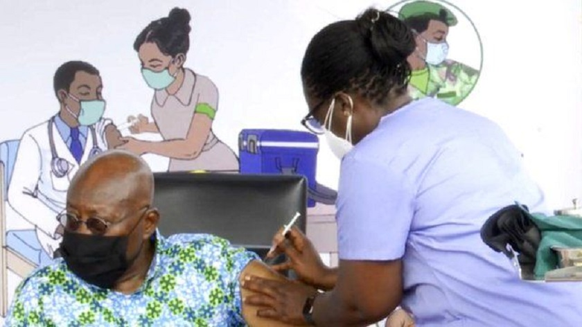 Ghana President COVID-19 Vaccine