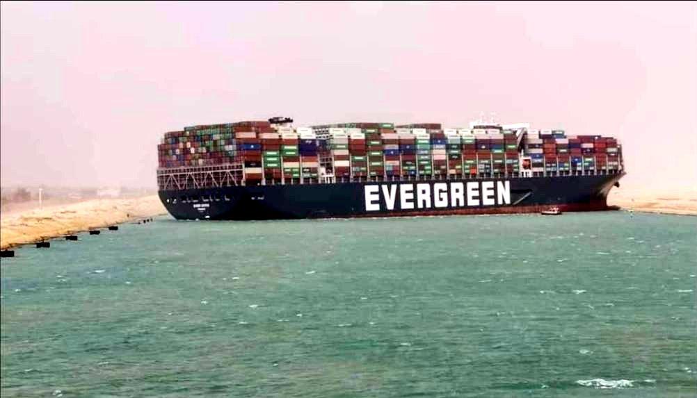 ship blocks Suez Canal