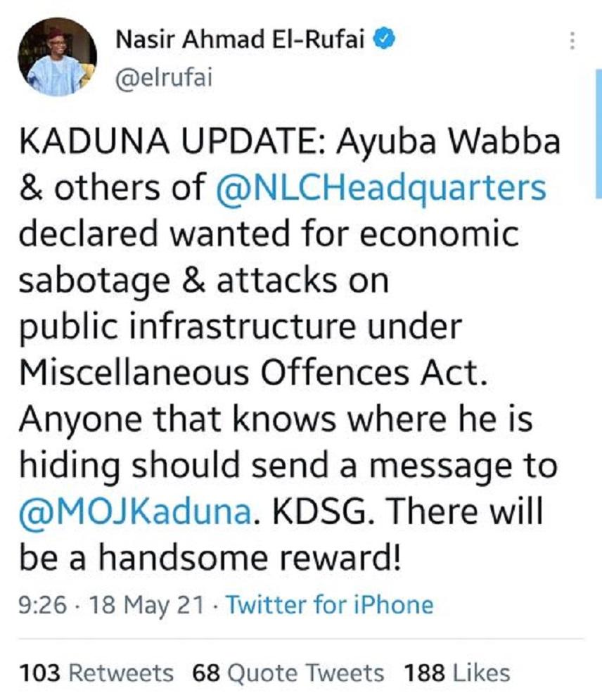 Kaduna economic sabotage
