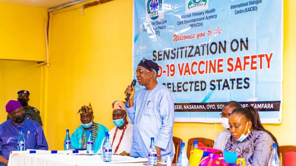 DG at the sensitization prog COVID-19 Vaccine
