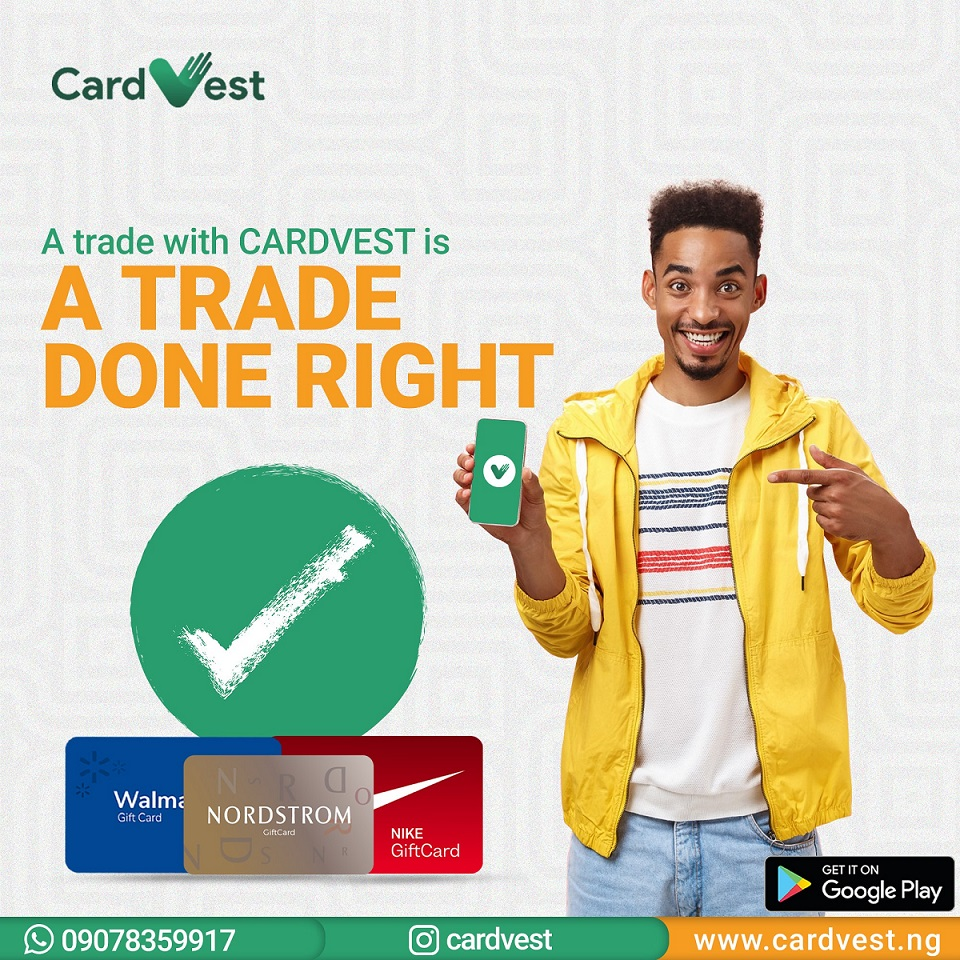 Cardvest Gift Cards Trading App