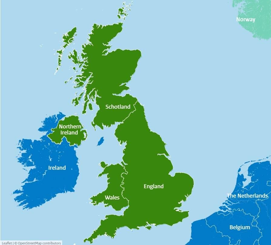 United Kingdom UK Danger Zones